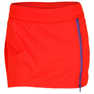 LIJA WOMENS COMPRESSION DASH SKORT ORANGE