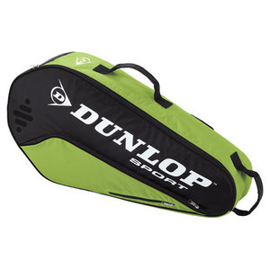 DUNLOP BIOMIMETIC TOUR 3 PACK GREEN TENNIS BAG