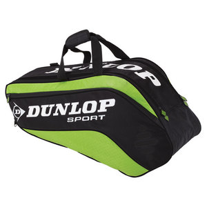 DUNLOP BIOMIMETIC TOUR 6 PACK GREEN TENNIS BAG