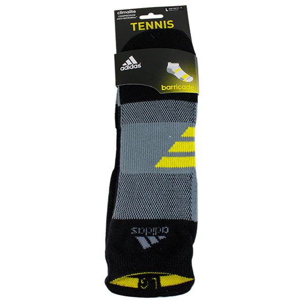 Barricade Large Black Tabbed No Show Tennis Socks