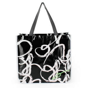 ELEVEN BLACK AND WHITE TOTE BAG