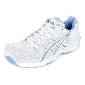 ASICS WOMENS GEL RESOLUTION 3 WH/BLUE SHOES