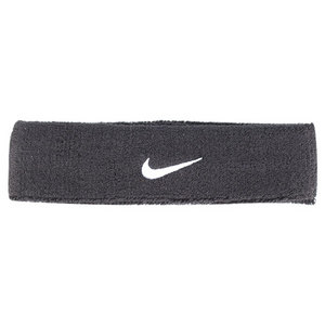 NIKE SWOOSH TENNIS HEADBAND BLACK/WHITE