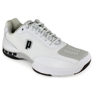 PRINCE WOMENS REBEL 2 LS WHITE/GRAY SHOES