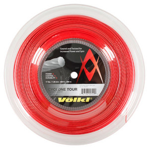 Cyclone Tour 17G/1.25MM Red Reel Tennis String