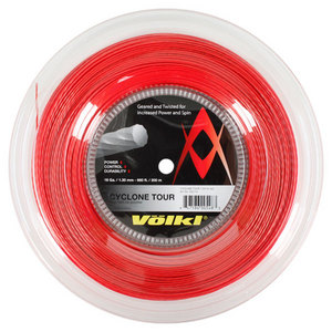 Cyclone Tour 16G/1.30MM Red Reel Tennis String