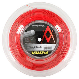 Cyclone Tour 18G/1.20MM Red Reel Tennis String