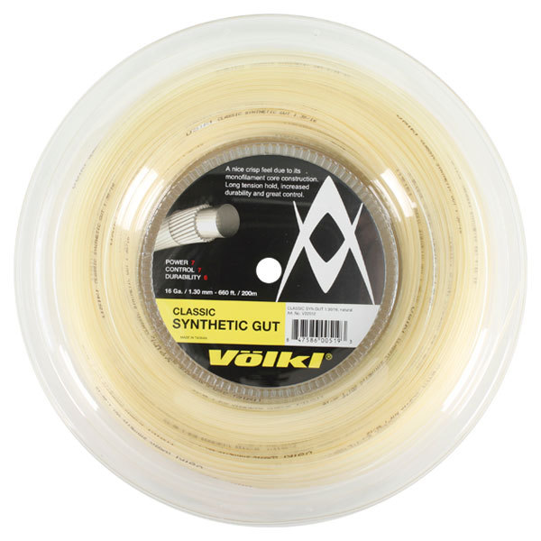 Classic Synethic Gut 16g/1.30 Reel String Natural