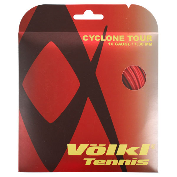 Cyclone Tour 16g/1.30mm Red Tennis String