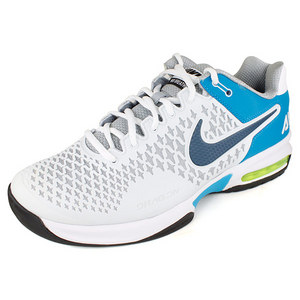 NIKE MENS AIR MAX CAGE SHOES GY/TURQ/
