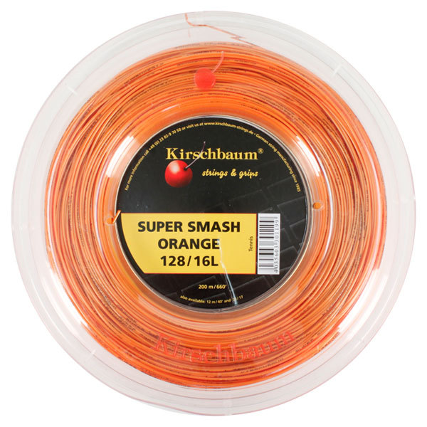 Super Smash 16l/1.28 Tennis String Reel Orange