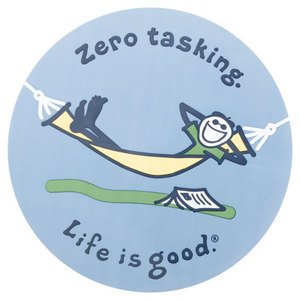LIFE IS GOOD ZERO TASKING 4 INCH STICKER