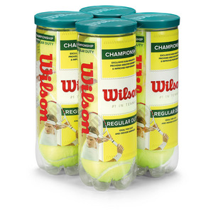 WILSON CHAMP REGULAR DUTY 4 PACK TENNIS BALLS