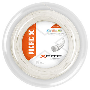 X Cite 1.30/16 Reel Tennis String Pearl