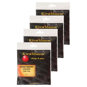 KIRSCHBAUM SUPER SMASH ORANGE 16L 4 PACK STRINGS