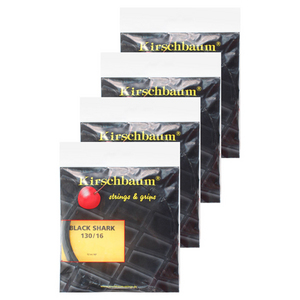 KIRSCHBAUM SPIKY SHARK BLACK 16G 4 PACK STRINGS