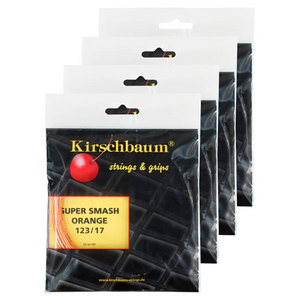 KIRSCHBAUM SUPER SMASH ORANGE 17G 4 PACK STRINGS