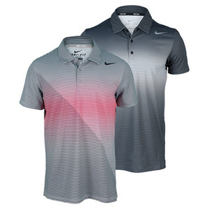 NIKE MEN`S SPHERE STRIPE TENNIS POLO