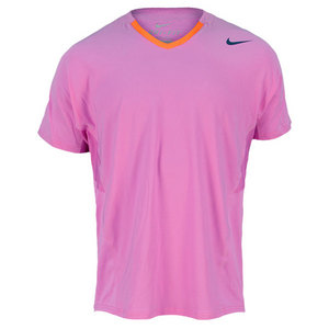 NIKE MEN`S PREMIER RAFA TENNIS CREW PURPLE