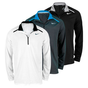 NIKE MEN`S HALF-ZIP LONG SLEEVE TENNIS TOP