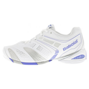 BABOLAT WOMENS V PRO 2 ALL COURT SHOES WHITE/BL