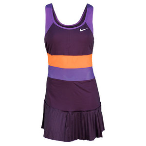 NIKE WOMENS PLEATED KNIT TENNIS DRESS