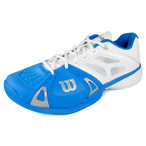 WILSON MENS RUSH PRO POOL/WH/SILV TENNIS SHOES