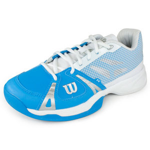 WILSON WOMENS RUSH CYAN/WH/SILV TENNIS SHOES