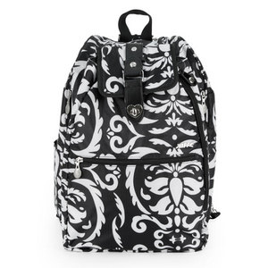 LIFE IS TENNIS BLACK AND WHITE PAISLEY COOLJET BAG