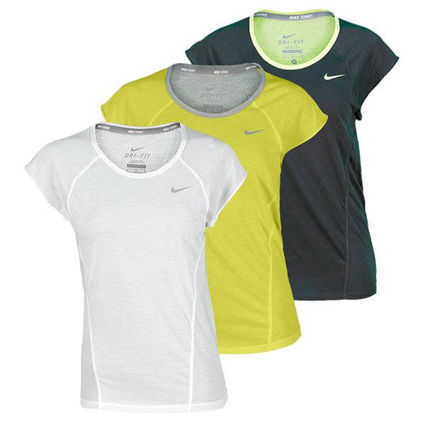 Women's Dri Fit Cotton Knit Short Sleeve Tennis Top