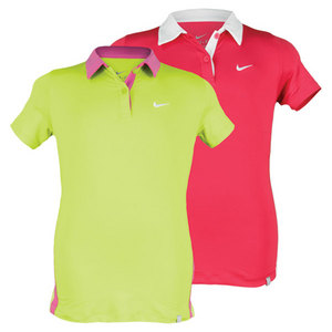 NIKE GIRLS BORDER TENNIS POLO