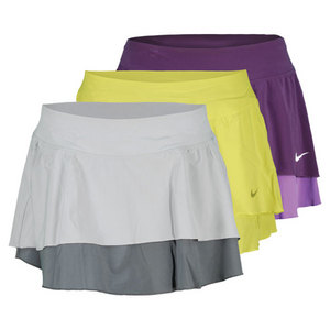 NIKE WOMENS FLOUNCY WOVEN TENNIS SKIRT