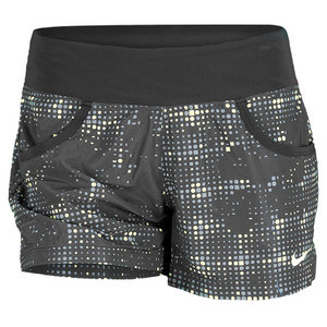 NIKE WOMENS VICTORY PRINTED TENNIS SHORT