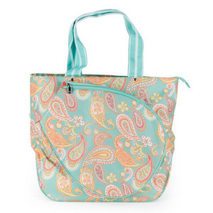 ALL FOR COLOR PAISLEY BREEZE TENNIS TOTE