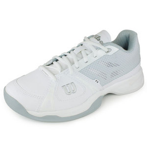 WILSON WOMENS RUSH WHITE/ICE GREY TENNIS SHOES