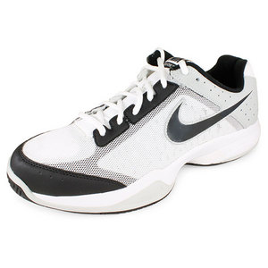 Men`s Air Cage Court Tennis Shoes White and Black
