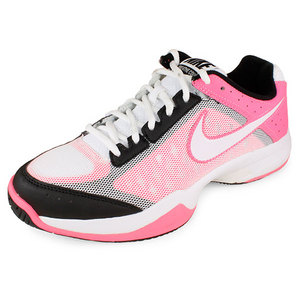 NIKE WOMENS AIR CAGE COURT SHOES WHITE/PINK