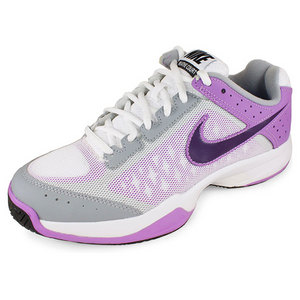 NIKE WOMENS AIR CAGE COURT SHOES WHITE/PURPLE