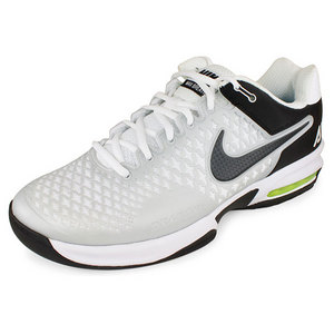 NIKE Men`s Air Max Cage Tennis Shoes White/Pure Pl