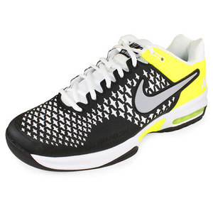 NIKE MENS AIR MAX CAGE SHOES BK/WH/VO