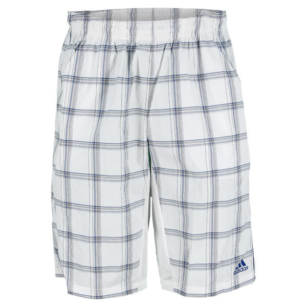 Men's Tennis Sequencials Plaid Bermuda Short White And Blue