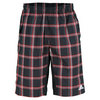 ADIDAS Men`s Tennis Sequencials Plaid Bermuda Short Black/Light Scarlet