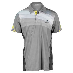 adidas MENS ADIZERO TENNIS POLO GREY/ONIX/YEL
