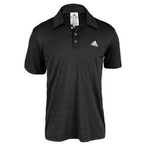 adidas MENS TENNIS SEQUENCIALS TRAD POLO BLACK