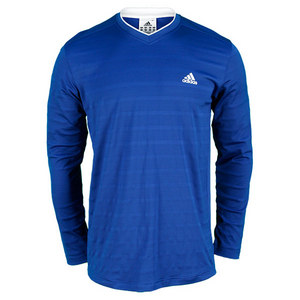 adidas MENS TENNIS SEQUENCIALS LS TEE DK BLUE