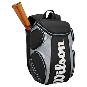 WILSON TOUR LARGE TENNIS BACKPACK BLACK/SILVER