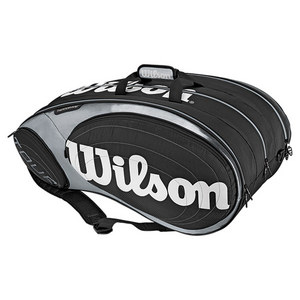 WILSON TOUR 15 PACK TENNIS BAG BLACK/SILVER
