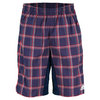 ADIDAS Men`s Tennis Sequencials Plaid Bermuda Short Collegiate Navy