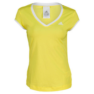 adidas WOMENS TS GALAXY CAP SLEEVE VIVID YELLOW