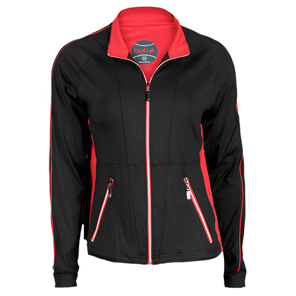 Women`s Red Hot Tennis Jacket Black